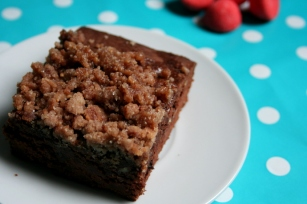 Streusel brownies